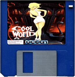 Cartridge artwork for Cool World on the Commodore Amiga.