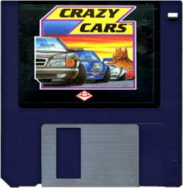 Cartridge artwork for Crazy Cars on the Commodore Amiga.