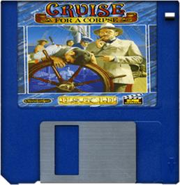 Cartridge artwork for Cruise for a Corpse on the Commodore Amiga.