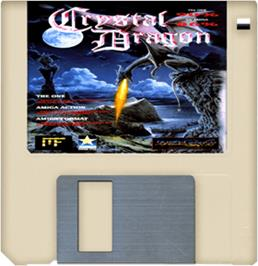 Cartridge artwork for Crystal Dragon on the Commodore Amiga.