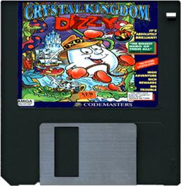 Cartridge artwork for Crystal Kingdom Dizzy on the Commodore Amiga.