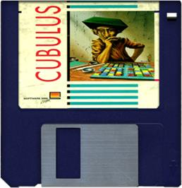Cartridge artwork for Cubulus on the Commodore Amiga.
