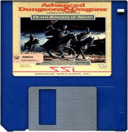 Cartridge artwork for Death Knights of Krynn on the Commodore Amiga.