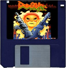 Cartridge artwork for Death Mask on the Commodore Amiga.