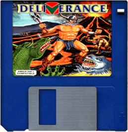 Cartridge artwork for Deliverance: Stormlord 2 on the Commodore Amiga.