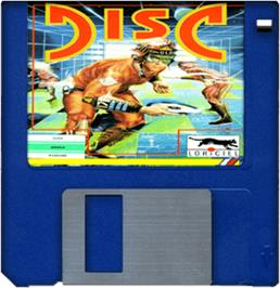 Cartridge artwork for Disc on the Commodore Amiga.