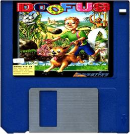 Cartridge artwork for Doofus on the Commodore Amiga.