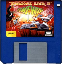 Cartridge artwork for Dragon's Lair 2 on the Commodore Amiga.