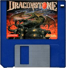 Cartridge artwork for Dragonstone on the Commodore Amiga.
