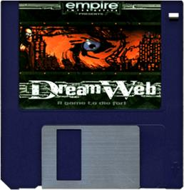 Cartridge artwork for Dream Web on the Commodore Amiga.