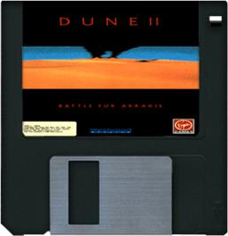Cartridge artwork for Dune 2 on the Commodore Amiga.