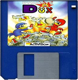 Cartridge artwork for Dynamite Dux on the Commodore Amiga.
