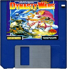 Cartridge artwork for Dynasty Wars on the Commodore Amiga.