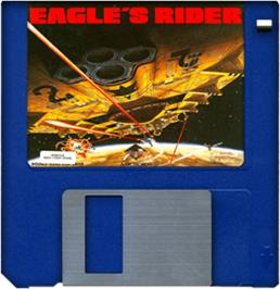 Cartridge artwork for Eagle's Rider on the Commodore Amiga.