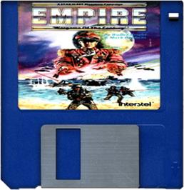 Cartridge artwork for Empire: Wargame of the Century on the Commodore Amiga.