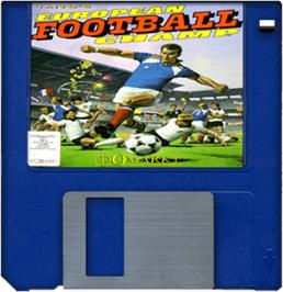 Cartridge artwork for European Football Champ on the Commodore Amiga.