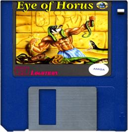 Cartridge artwork for Eye of Horus on the Commodore Amiga.