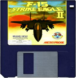 Cartridge artwork for F/A-18 Interceptor on the Commodore Amiga.