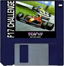 Cartridge artwork for F17 Challenge on the Commodore Amiga.
