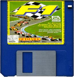Cartridge artwork for F1 on the Commodore Amiga.