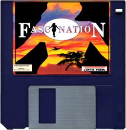 Cartridge artwork for Fascination on the Commodore Amiga.
