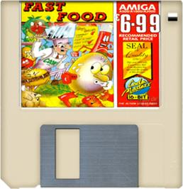Cartridge artwork for Fast Food on the Commodore Amiga.
