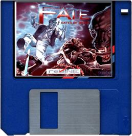 Cartridge artwork for Fate: Gates of Dawn on the Commodore Amiga.