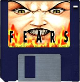 Cartridge artwork for Fears on the Commodore Amiga.