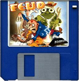 Cartridge artwork for Feud on the Commodore Amiga.