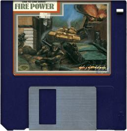 Cartridge artwork for Fire Power on the Commodore Amiga.
