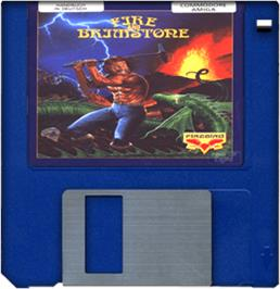 Cartridge artwork for Fire and Brimstone on the Commodore Amiga.