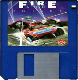 Cartridge artwork for Fire and Forget on the Commodore Amiga.