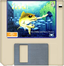 Cartridge artwork for Fish on the Commodore Amiga.