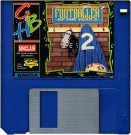 Cartridge artwork for Footballer of the Year 2 on the Commodore Amiga.