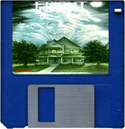 Cartridge artwork for Fright Night on the Commodore Amiga.