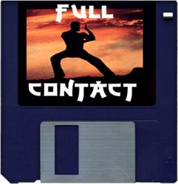Cartridge artwork for Full Contact on the Commodore Amiga.