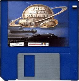 Cartridge artwork for Full Metal Planete on the Commodore Amiga.