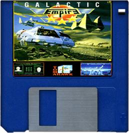 Cartridge artwork for Galactic Empire on the Commodore Amiga.