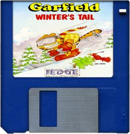 Cartridge artwork for Garfield: Winter's Tail on the Commodore Amiga.