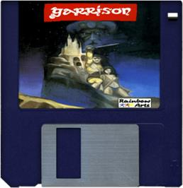 Cartridge artwork for Garrison on the Commodore Amiga.