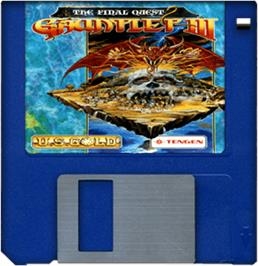 Cartridge artwork for Gauntlet III on the Commodore Amiga.