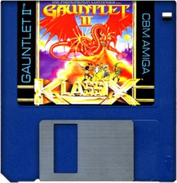 Cartridge artwork for Gauntlet II on the Commodore Amiga.
