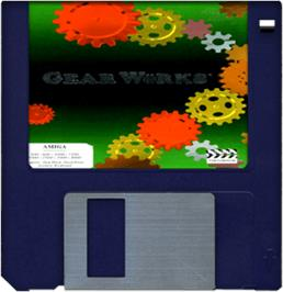 Cartridge artwork for Gear Works on the Commodore Amiga.