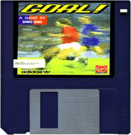 Cartridge artwork for Goal on the Commodore Amiga.