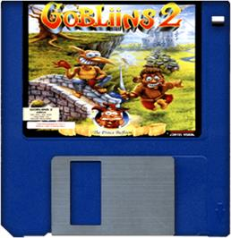 Cartridge artwork for Gobliins 2: The Prince Buffoon on the Commodore Amiga.