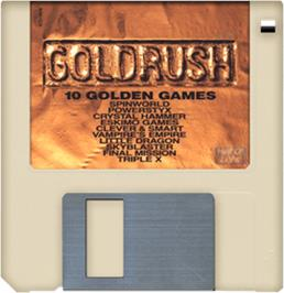 Cartridge artwork for Gold Rush on the Commodore Amiga.