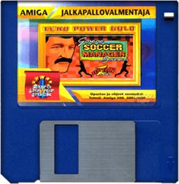 Cartridge artwork for Graeme Souness Soccer Manager on the Commodore Amiga.