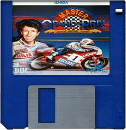 Cartridge artwork for Grand Prix Master on the Commodore Amiga.