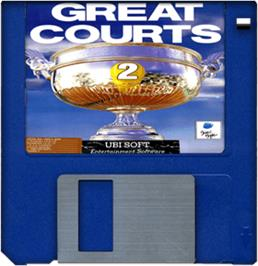 Cartridge artwork for Great Courts 2 on the Commodore Amiga.