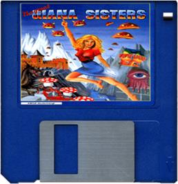 Cartridge artwork for Great Giana Sisters on the Commodore Amiga.